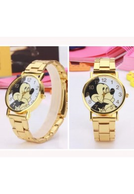 RELOJ MINNIE/MICKEY DORADO